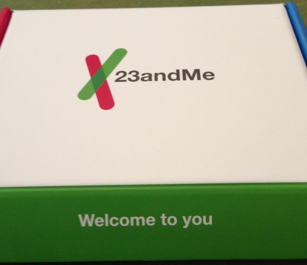 23andMe kit.