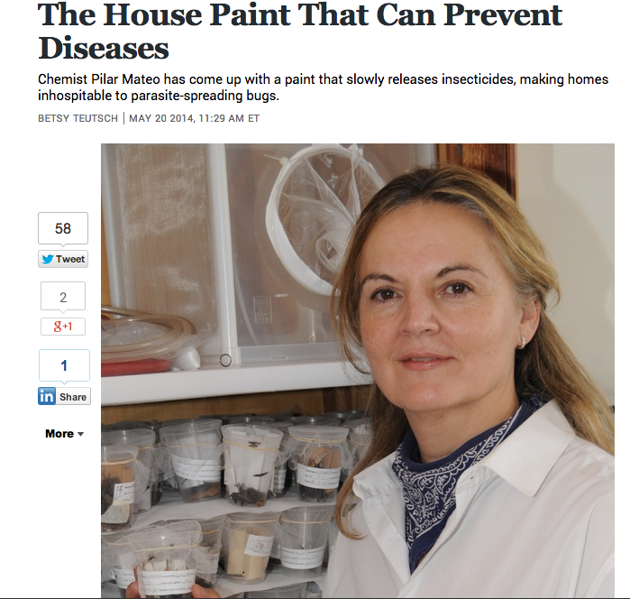 Article in  The Atlantic  about Pilar Mateo's house paint.
