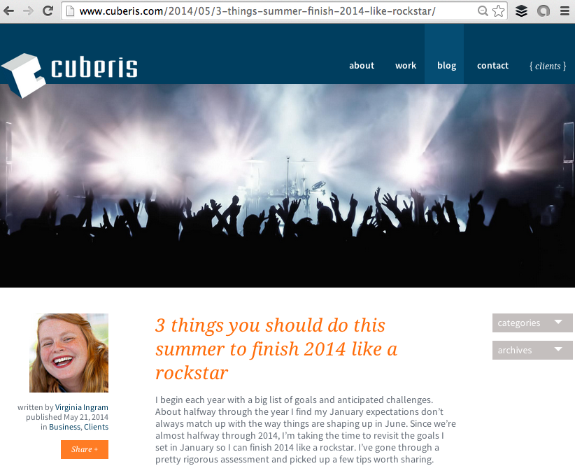 Cuberis blog: 3 things you should do this summer to finish 2014 like a rockstar.