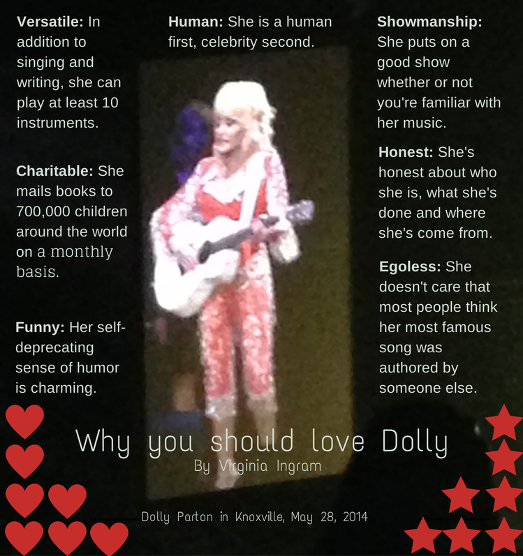 Why you should love Dolly Parton by Virginia Ingram.