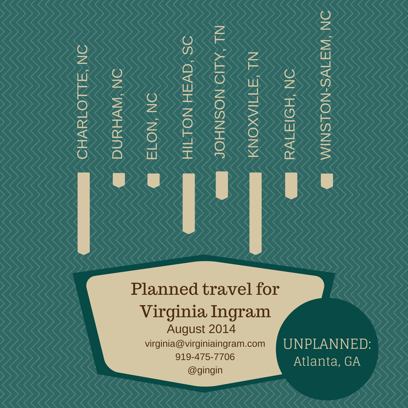 Planned and unplanned travel for August 2014.