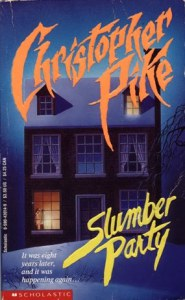 Christopher Pike's Slumber Party. A mystery book about murder and young adult sex.