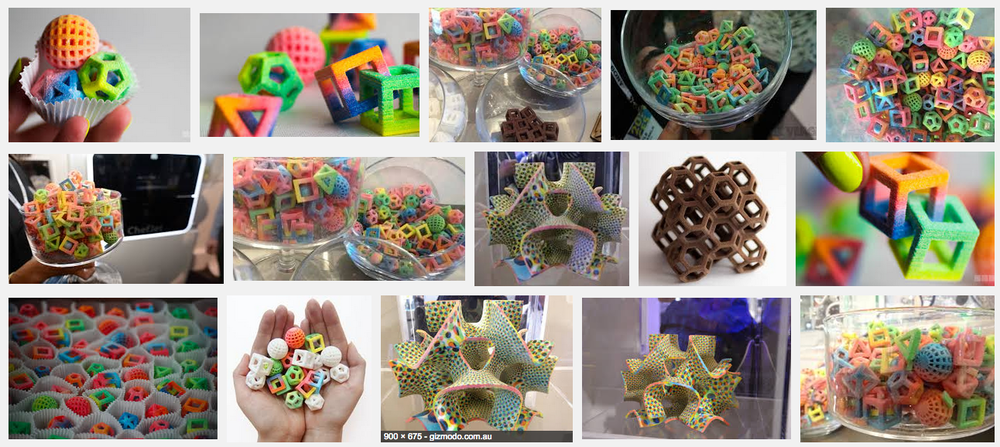 Google search for 3D printed candy.