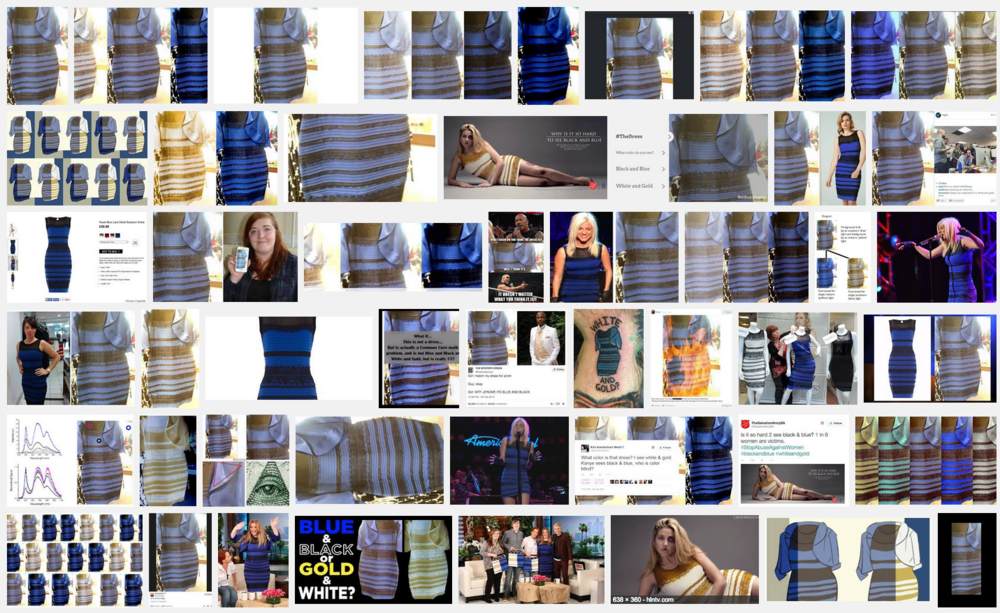 A Google search for #thedress in case you're one of the two people in the world who doesn't know about it.