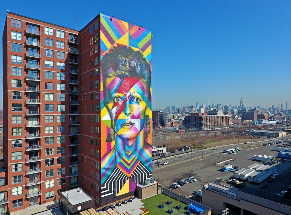 david bowie mural - jersey city