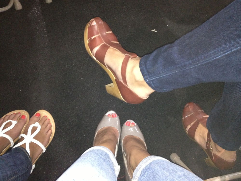 Shoe choices at Fight Night