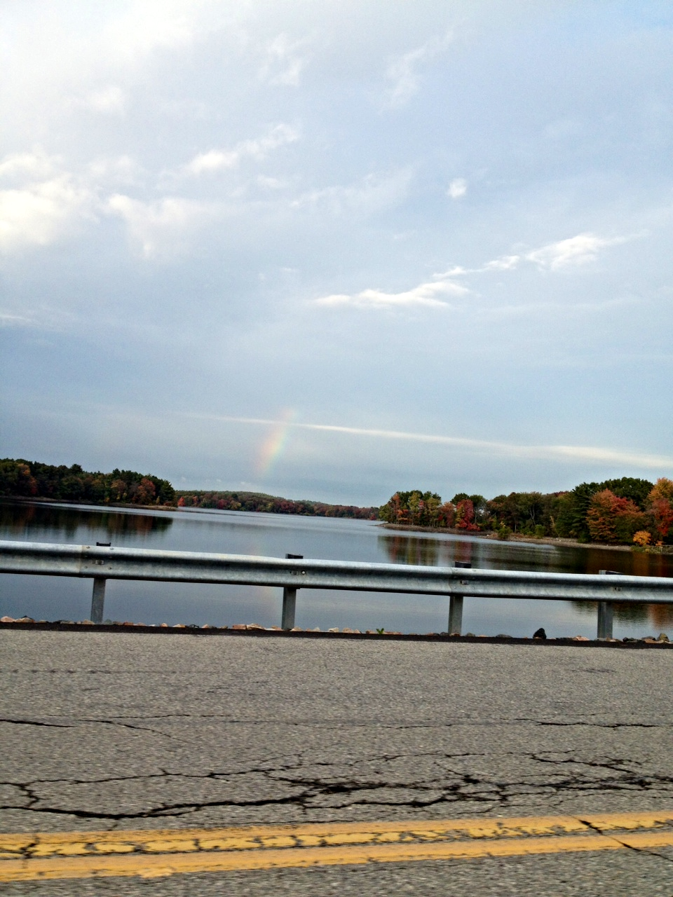 Rainbow over the Reservoir, Waltham, MA