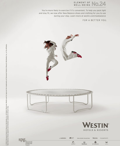 (SOURCE: http://www.nytimes.com/2012/11/02/business/media/westin-lends-new-balance-gear-at-its-hotels.html)
