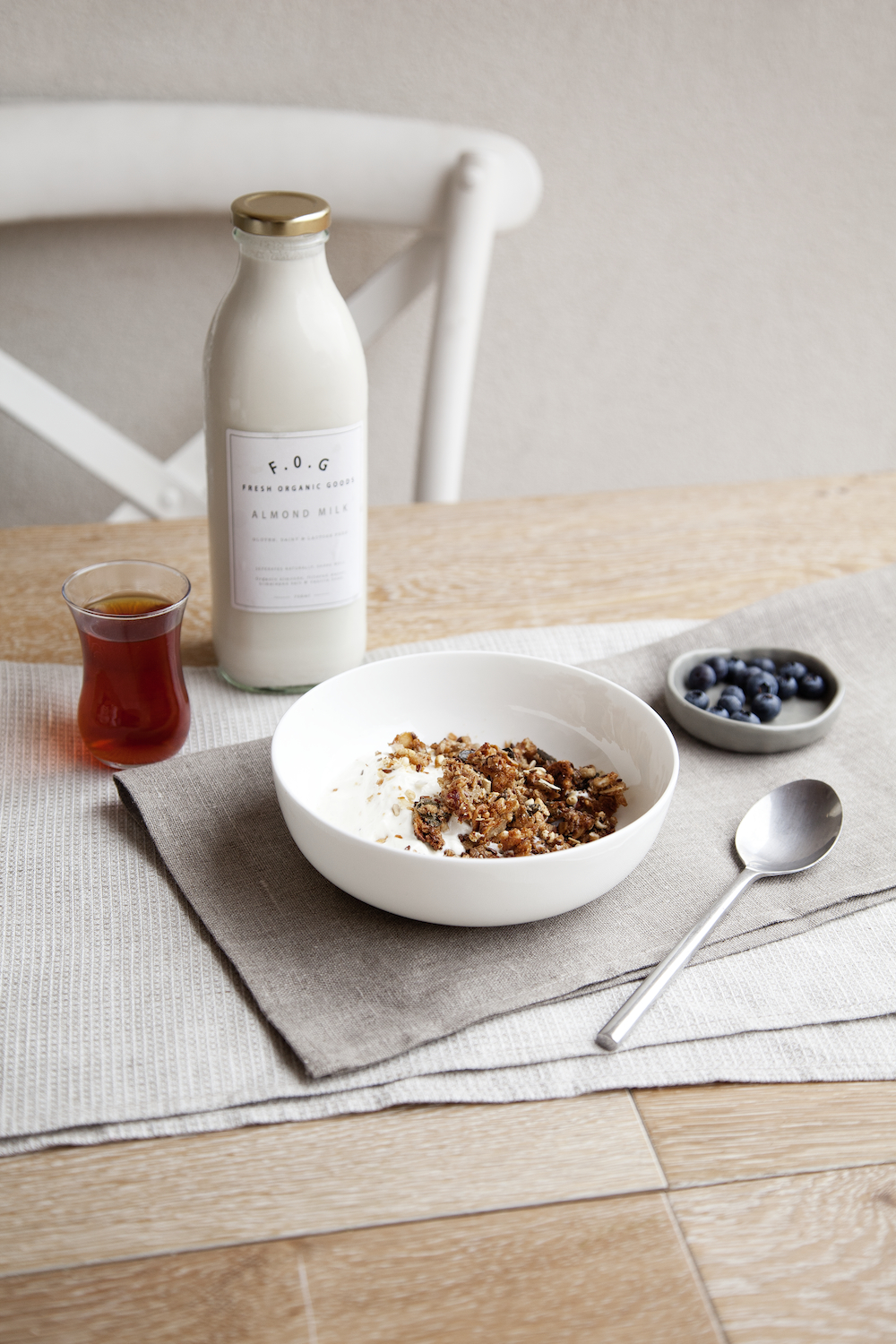 Photography by Elisa Watson. Pictured: Fresh Organic Goods Almond Milk.