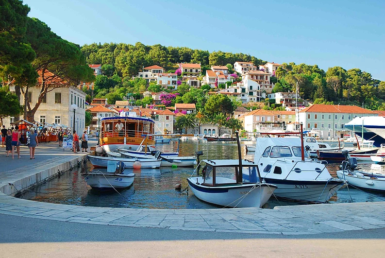 Quaint town of Jelsa on Hvar Island in Croatia