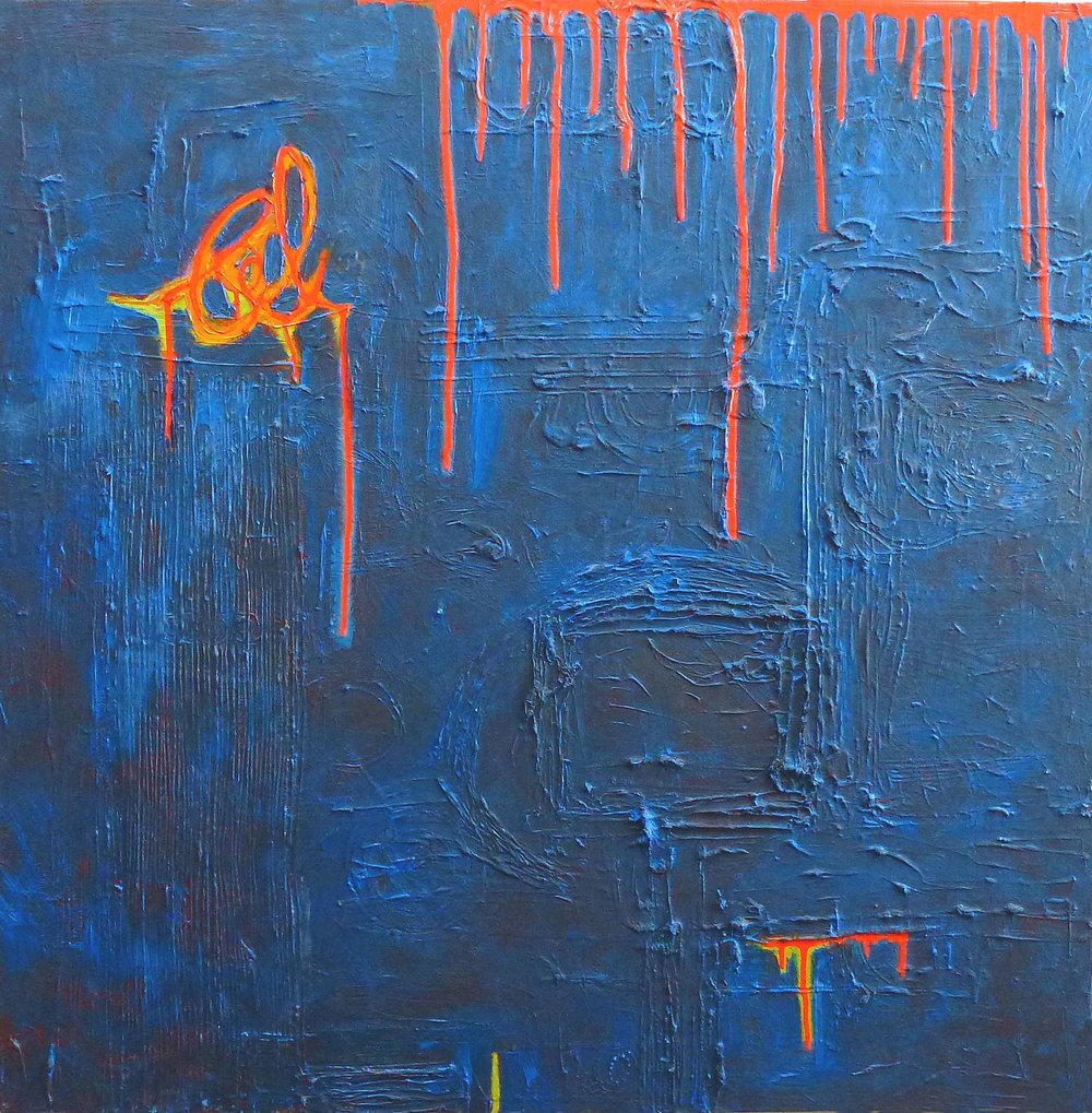 My Prints are on This 2.0  2012 | oil on canvas | 36 x 36 | $2100