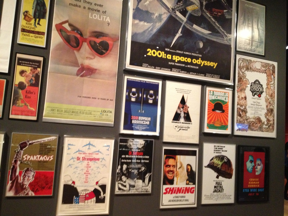 The wall showcasing all of Stanley Kubrick's films