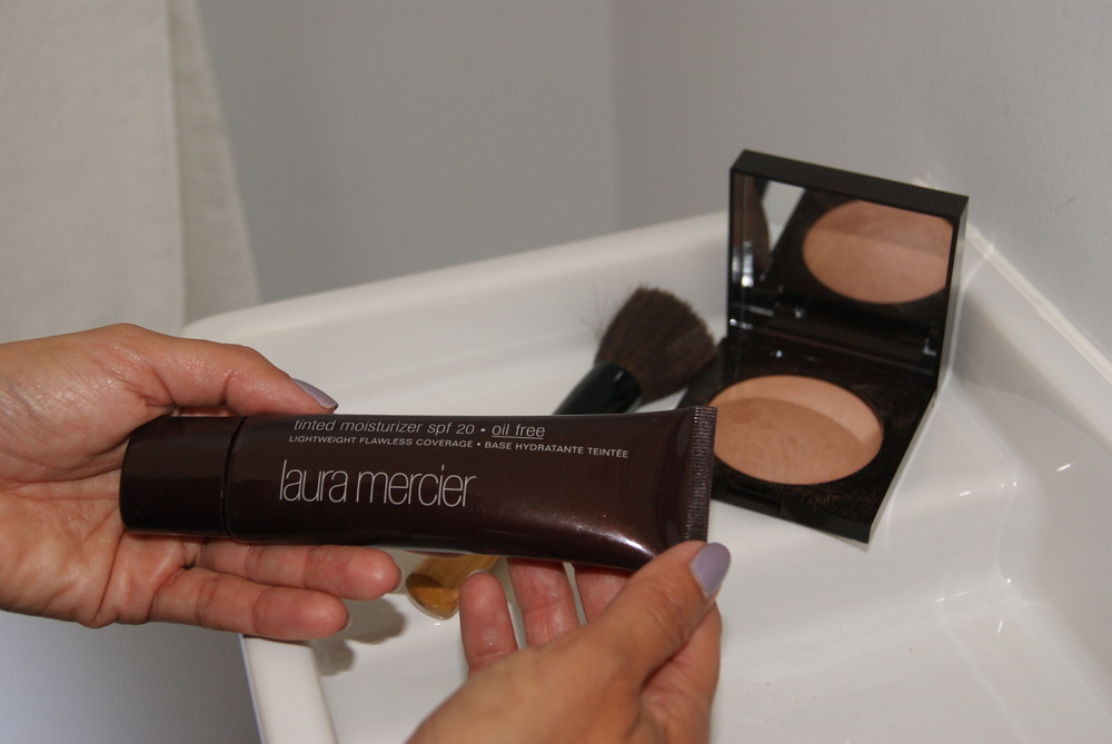 A great complement to the bronzer is  Laura Mercier's tinted moisturizer with SPF 20,  an editors favorite! ($43)