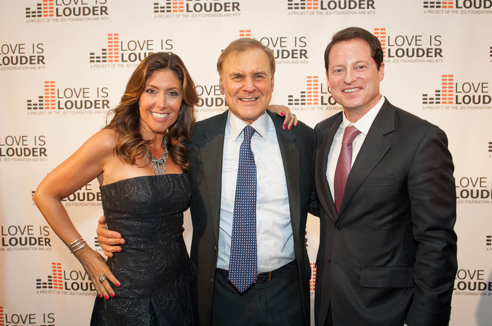Me, Phillip Satow (Co-Founder, The Jed Foundation), and my husband, Michael Meyers (Board Member).