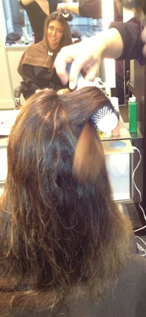 "Step 4: Yuki - ""Blowdry straight after rinsing."""