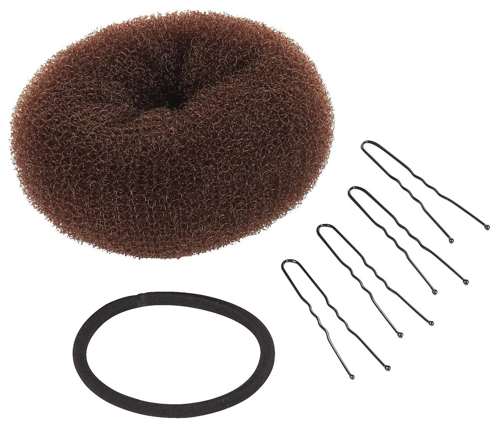 This is all you need to make the perfect bun.  Conair Bun Maker 6 Piece Kit, $4.99