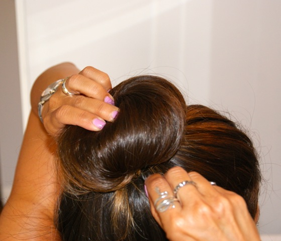 Step 3: Secure with bobby pins or hair pins.