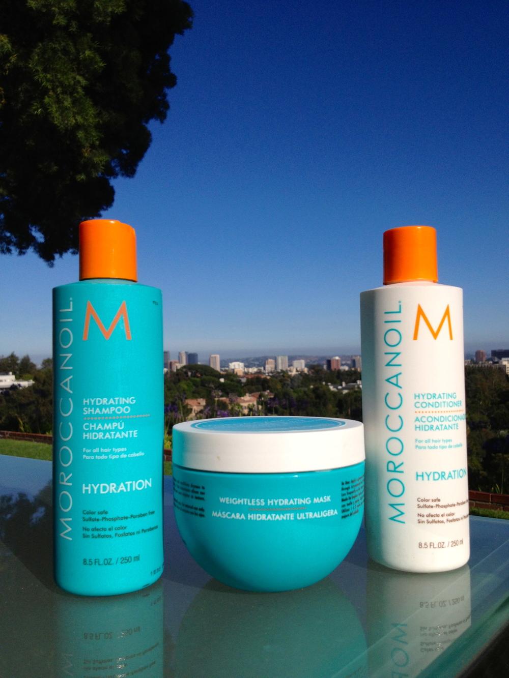 Moroccanoil Hydrating Shampoo$42.00     Moroccanoil Hydrating Conditioner$42.00   Moroccanoil Weightless Hydrating Mask $32.00