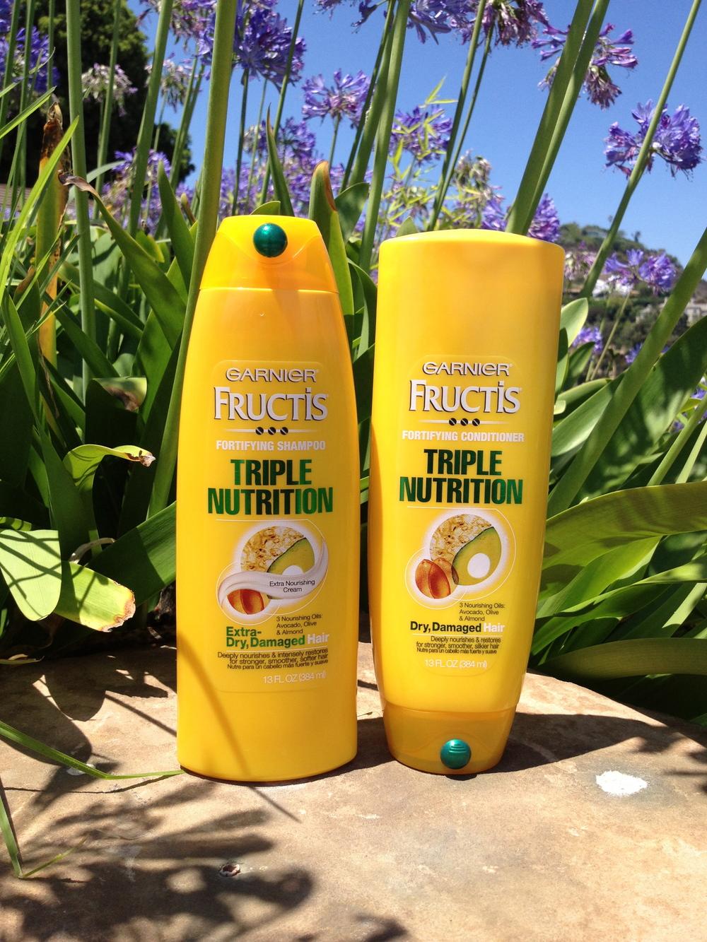 Garnier Fructis Triple Nutrition Shampoo, $2.25 Garnier Fructis Triple Nutrition Conditioner, $3.00