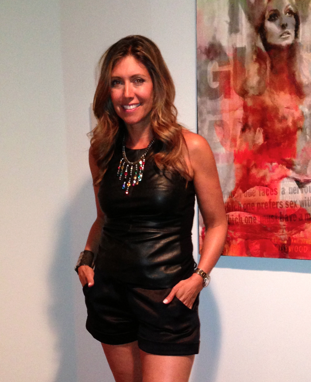 Faux leather tank top: Bailey 44, $167 100% Silk Crepe Black Satin and leather shorts: Ramy Brook, $395 Jewlery: Neckllace by Dannijo Cuff by Kelly Gerber Jewelry