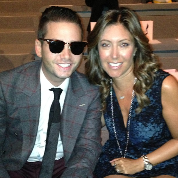Sitting front row with Josh Flagg of Bravo's Million Dollar Listing LA.
