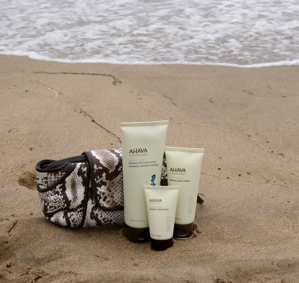 Kooba for AHAVA Limited Edition Set  photographed at Santa Monica beach in Los Angeles, CA.