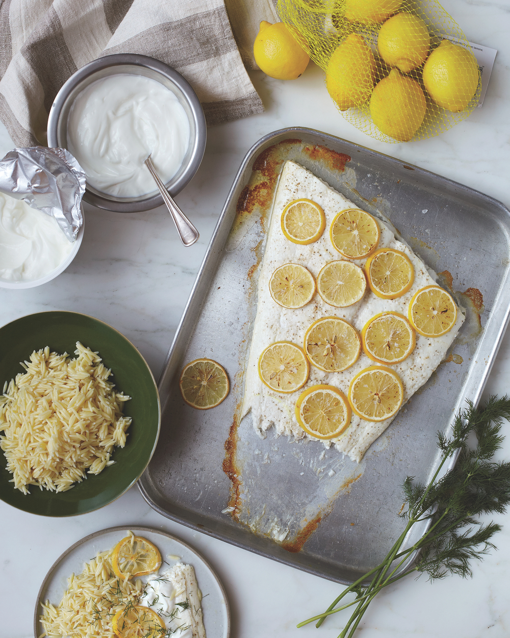 Greek-Style Fish with Yogurt and Lemon