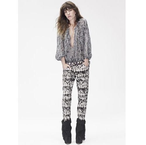 Silk blouse, $99 Pants, $99