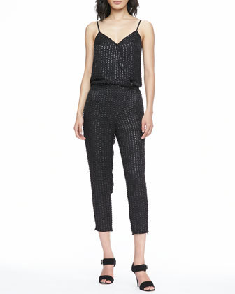 Parker Autumn Beaded Jumpsuit $396
