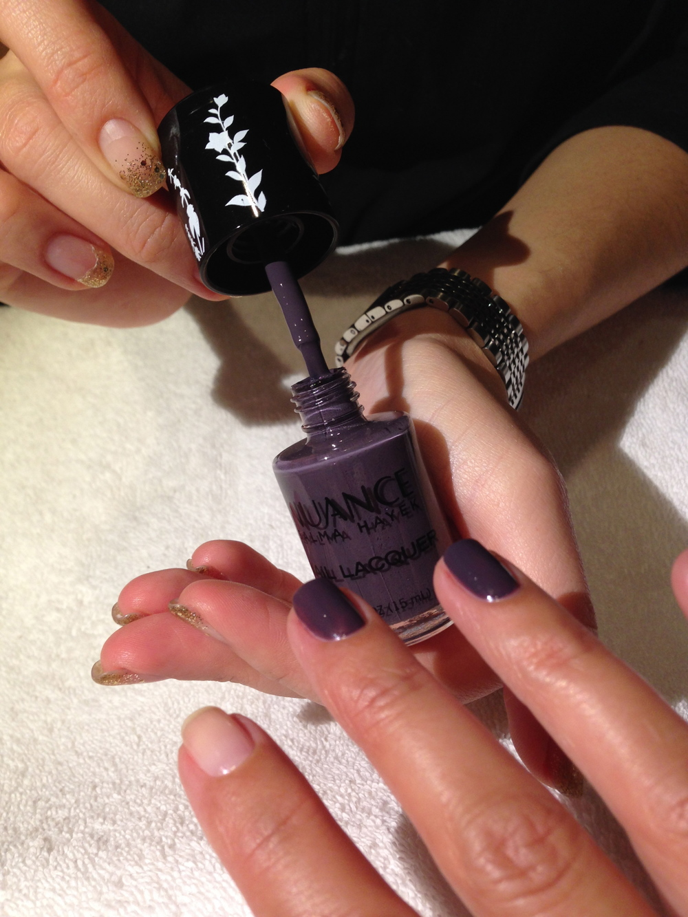 Nuance Salma Hayel Nail Lacquer, Vapor, $5.99. Available at CVS.