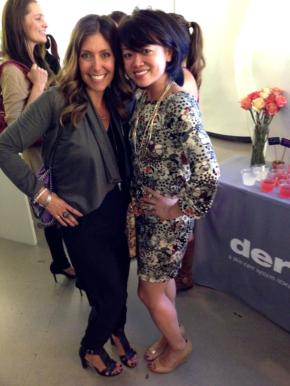 With leadership and lifestyle expert Claudia Chan at the  women's empowerment and networking event  held at Dermalogica in Santa Monica.