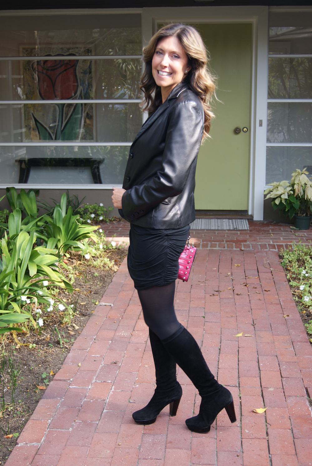 Black Leather Blazer, Club Monaco (no longer available)