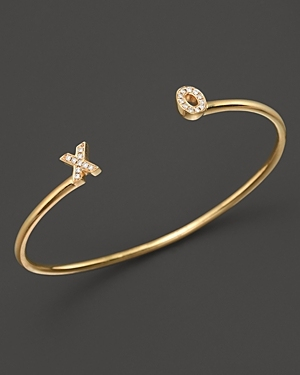 Dana Rebecca Designs Diamond X & O Initial Cuff in 14K Yellow Gold, $1650