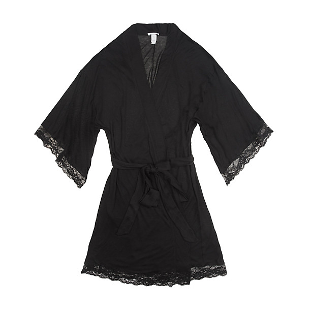 Need something fresh for your lingerie drawer? I recently purchased this pretty, lace kimono robe made of the softest rayon jersey by Eberjey. It drapes so nicely on the body and is the perfect cover-up when you need an extra layer either over a teddy or right out of the bath. Super comfy too!  EBERJEY Fiona Kimono Robe with Lace $102.00