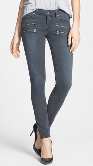 Paige Jeans 'Edgemont' Zip Pockets Ultra Skinny Jeans (Atwater), $239.00