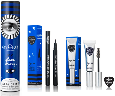 Shop:   Alexa Chung for Eyeko Limited Edition Eye Do Mascara & Liquid Eyeliner Set, $39 at Sephora.