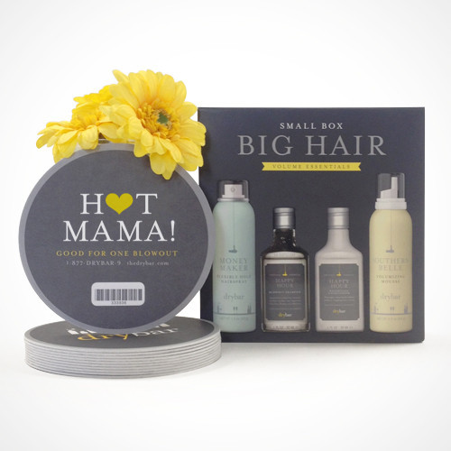 "Mother's Day Special, ""Hot Mama"" 6 pack of blowouts, $225 plus Small Box Big Hair products ($25 value). Order by May 2nd to ship by Mother's Day!"