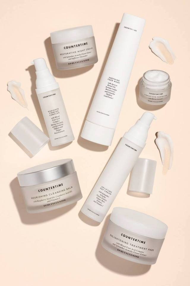 "Buy the anti-aging ""Countertime Collection"" here, $295. Products also sold individually."
