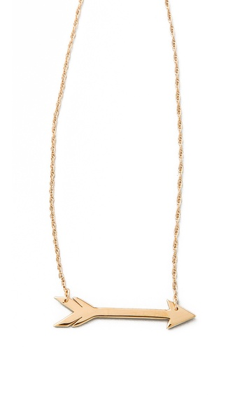 Jennifer Zeuner gold arrow necklace, $155