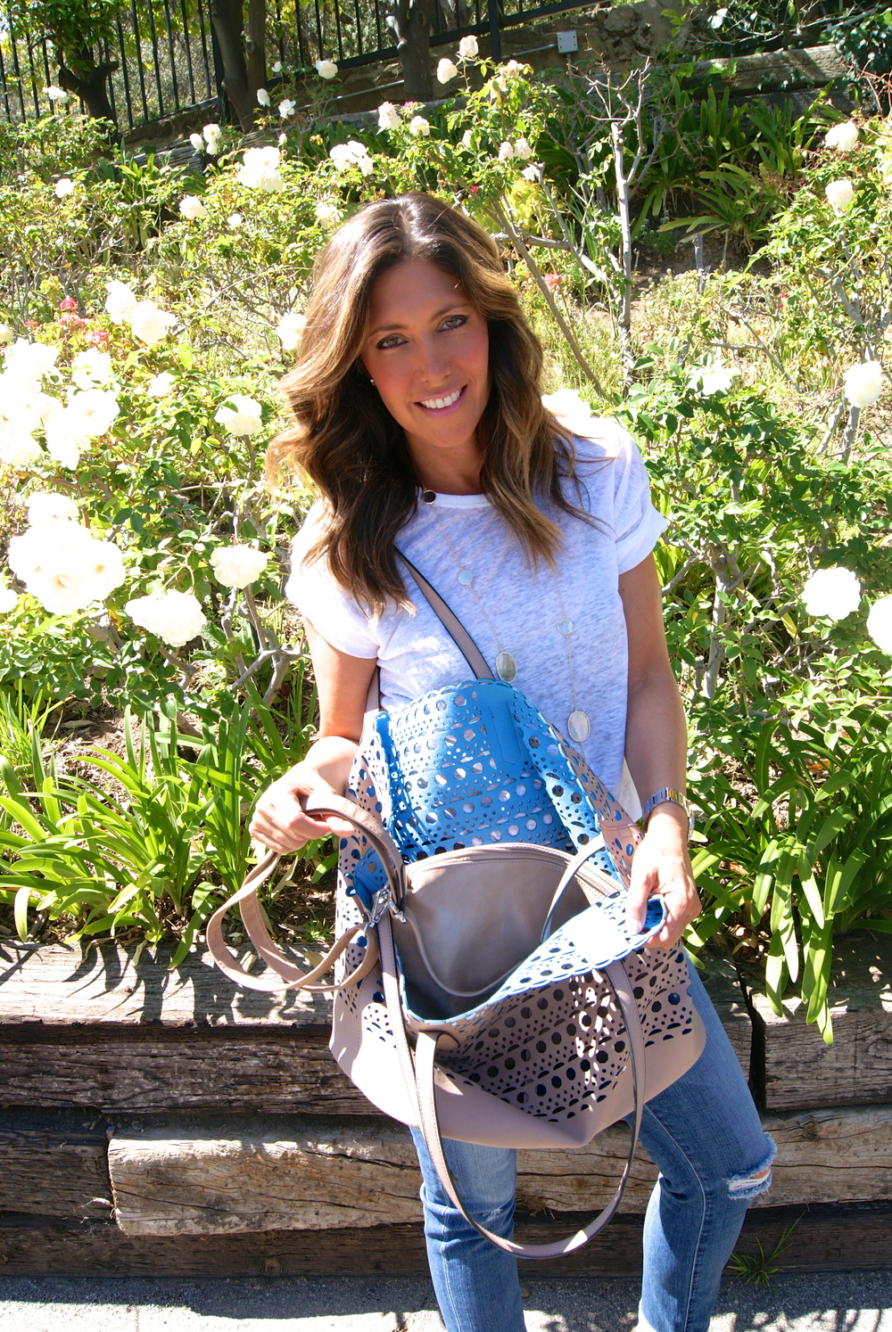 Perforated leather bags, $130. To order, contact Esther Feder, essiela@gmail.com, 310-490-5515.