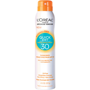 L'Oreal Quick Dry Sheer Finish Spray 30, $10