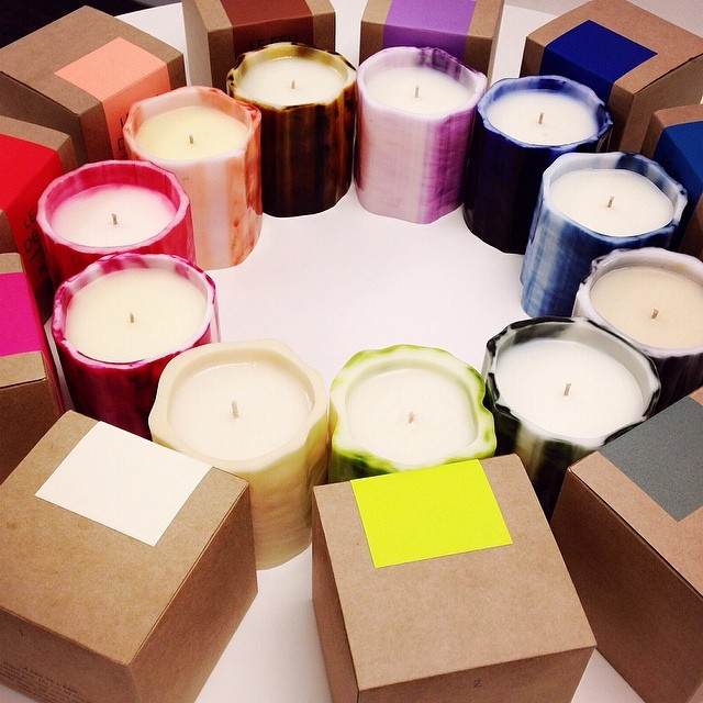 "Le Feu de L'Eau Boutique luxury candles, $62 each. Dimension: 3.5"" x 4"". Approximate burning time is 80 hours."