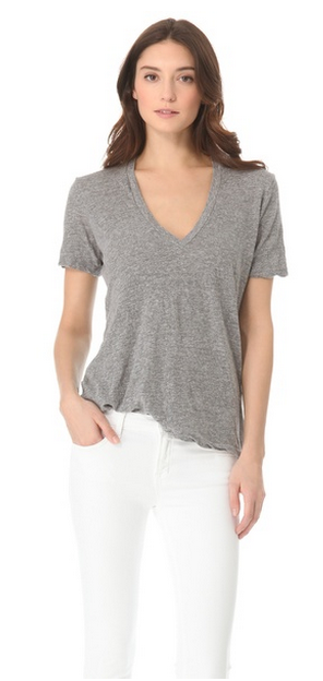 MONROW Oversized V Neck Tee, $54