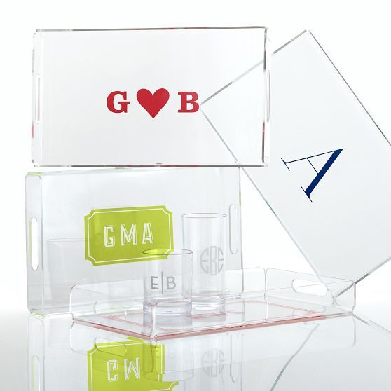 Mark and Graham Rectangular Acrylic Tray, $49-$59