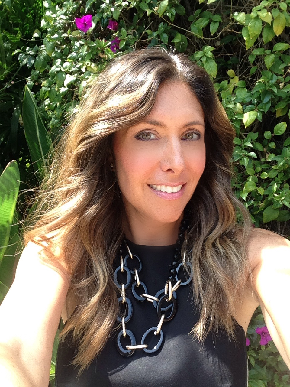 Selfie: My summer hair is dry and looks damaged at the ends. Necklace by Essie Collection. Contact  Esther@essiecollection.com  for more details.