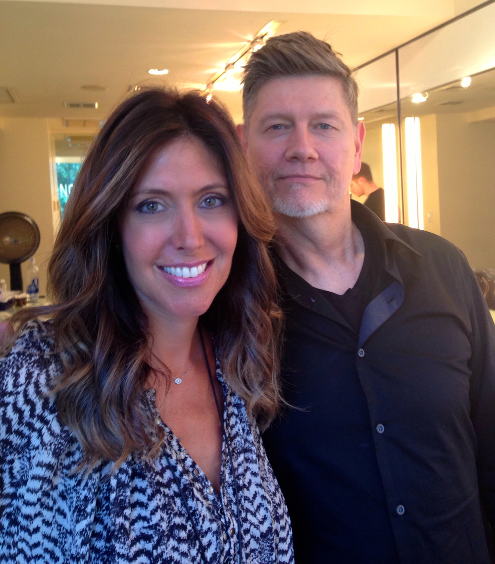 In New York with hair color genius Steve Amendola of the John Frieda Salon. In addition to adding some low lights and a gloss, Steve used  the  Kerastase Concentre Oleo-Fusion Intensive Nutrition Treatment  on my hair to deep condition it.
