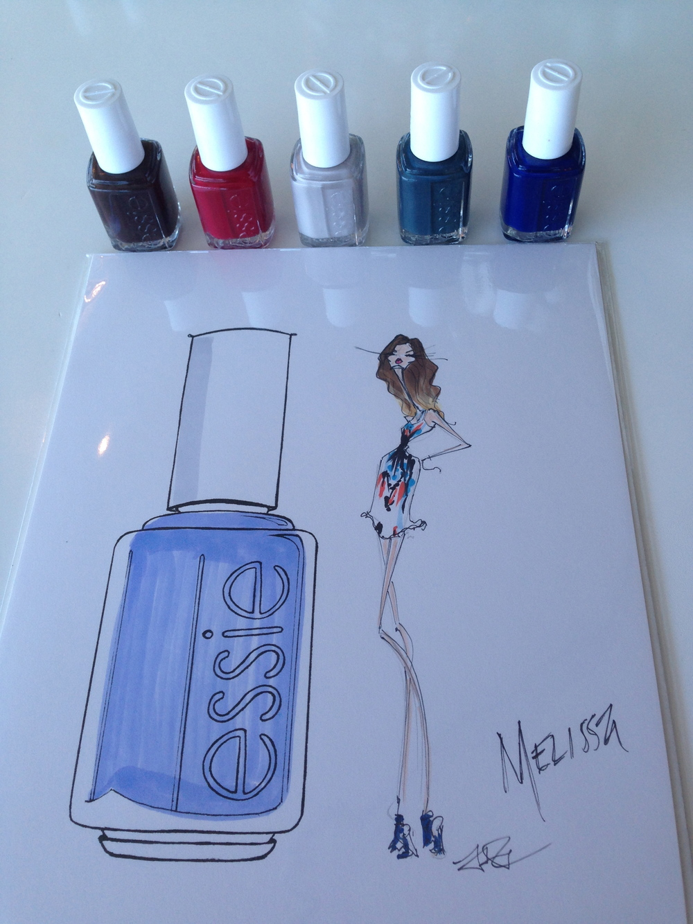All nail colors from the  essie Fall 2014 collection.   Fabulous fashion illustration of moi by the uber-talented  Jamie Lee Reardin .
