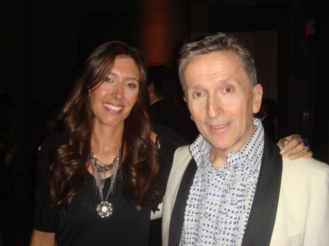 Moi with host for the night, Simon Doonan
