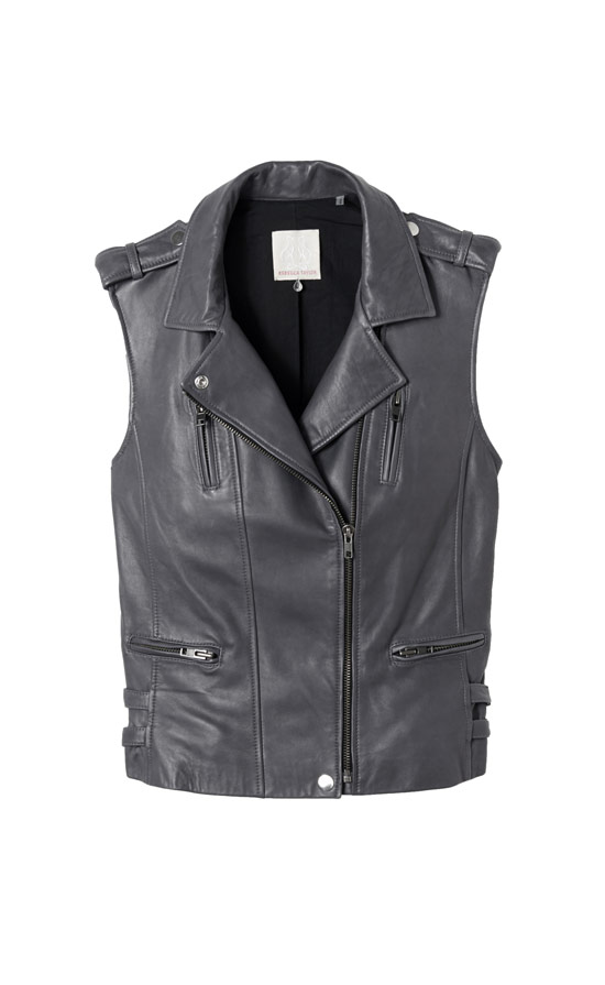 Rebecca Taylor Leather Moto Vest, $795