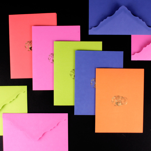 D.L. & Co. Delft Skull Stationery - Brights, $50